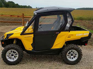 Yellow UTV CanAm Commander