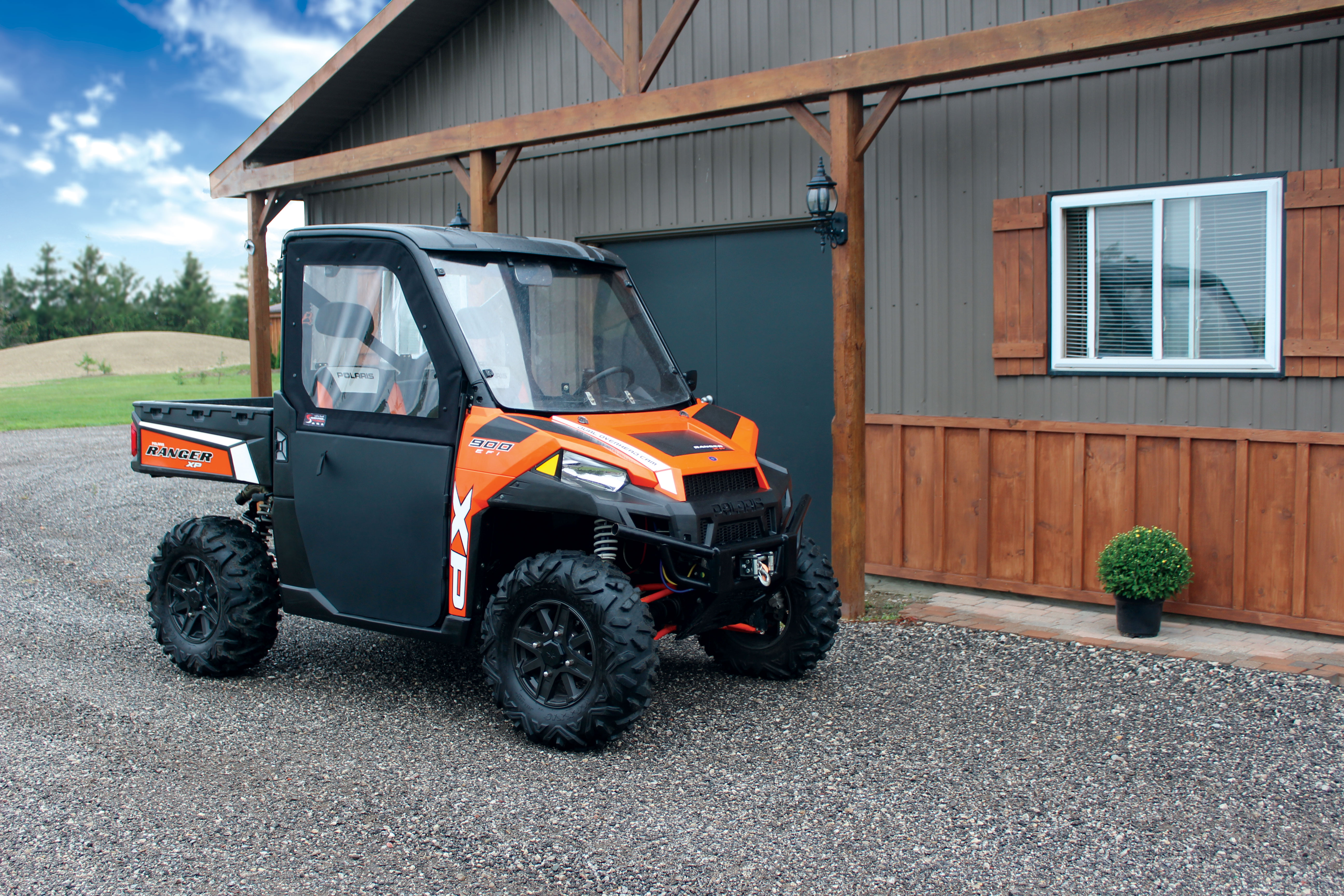 Polaris Ranger 900XP Black Canvas Hard Frame Doors